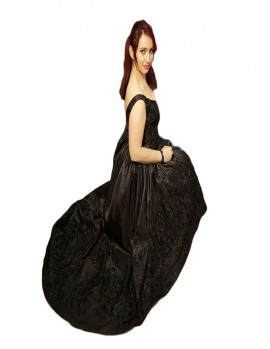 Poze Rochie de seara lunga ,nuanta de negru