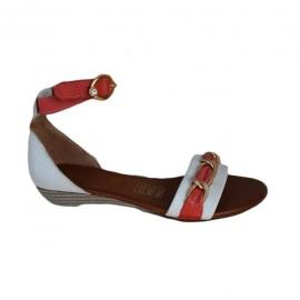 Sandale casual,ortopedice in doua nuante din piele naturala