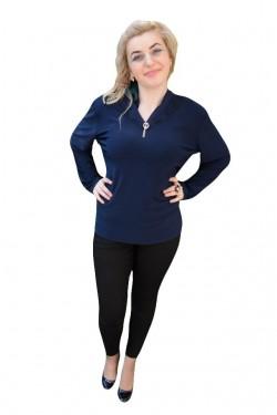 Poze Bluza casual , de culoare bleumarin, cu inserti de dantela