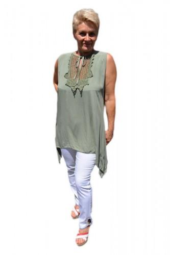 Poze Bluza casual,de vara fara maneca ,nuanta de kaki