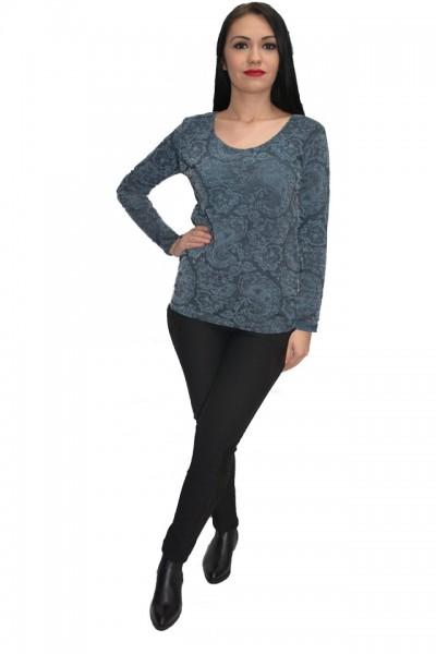 Poze Bluza cu imprimeu digital natural in nuanta de gri