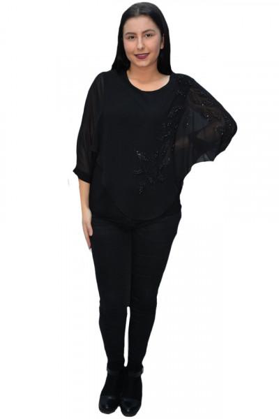 Poze Bluza eleganta cu aplicatii deosebite Dakota,nuanta de negru