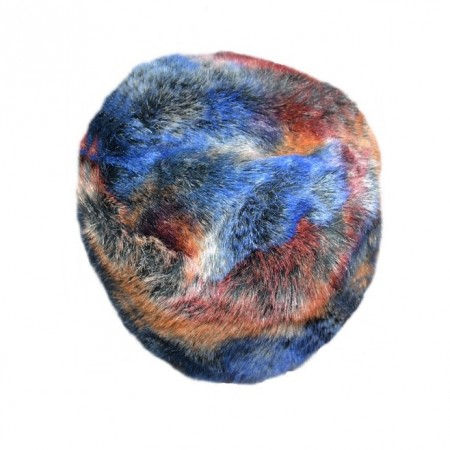 Caciula calduriasa de iarna multicolora, realizata din blana
