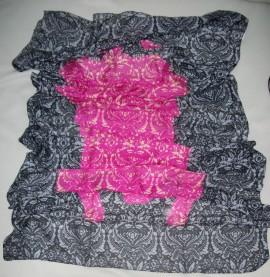 Esarfa casual, de culoare gri-roz,bleumarin-verde ES-2385-VE