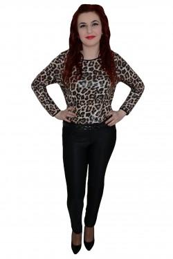 Poze Pantalon chic, nuanta de negru, material usor elastic