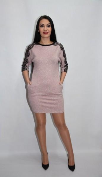 Rochie chic de zi de culoarea plamaniu