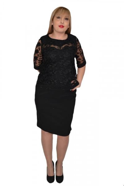 Poze Rochie eleganta Arabella din dantela ,nuanat de negru