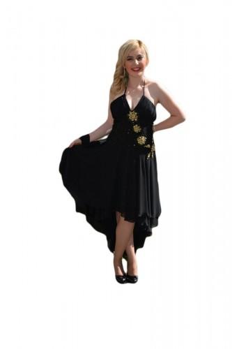 Poze Rochie spectaculoasa , neagra cu paiete aurii