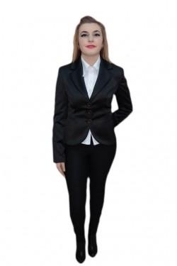 Poze Sacou elegant si rafinat, nuanta de negru, maneci lungi
