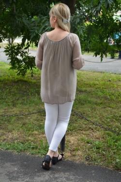 Bluza de vara masura mare, culoare maro, cu croiala simplista