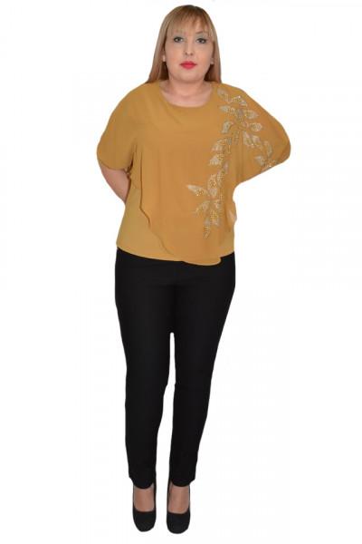 Poze Bluza eleganta cu aplicatii deosebite Dakota,nuanta de mustar