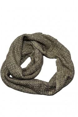 Esarfa moderna cu forma circulara din material tricotat nuanta crem
