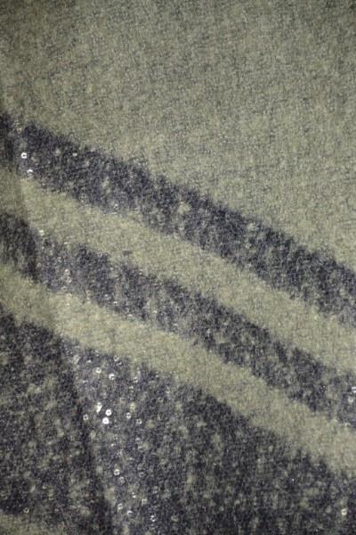 Esarfa tip sal cu insertii argintii,nuanta de verde