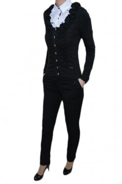 Poze Pantalon tineresc, nuanta de negru, buzunare laterale