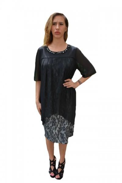 Poze Rochie eleganta Kayla cu aplicatii de margele,nuanat de negru
