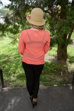 Bluza cu maneca lunga, uni-color, corai, turcoaz, albastru