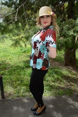 Camasa cu maneca scurta, cu un imprimeu multicolor