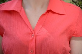 Camasi cu maneca scurta, office, de culoare rosii