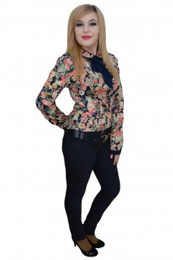 Poze Pantalon elegant, de nuanta bleumarin, cu design modern