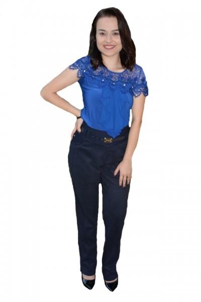 Poze Pantalon office Ariana ,model simplu,nuanta de bleumarin