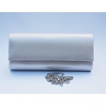 Poseta nuanta argintiu,alb,auriu,roz , design imprimat in material
