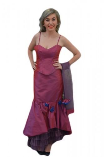 Poze Rochie de ocazie , de culoare roz lucios