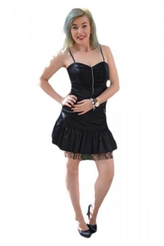 Poze Rochie eleganta de culoare neagra, formata din fusta si corset