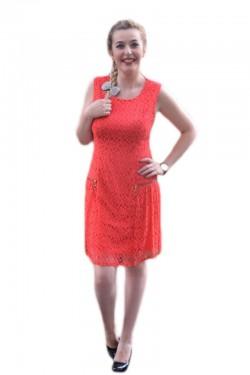Poze Rochie eleganta, shic, din dantela, disponibila in nuanta de corai
