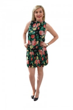Rochie feminina , casual, fusta cu pliuri