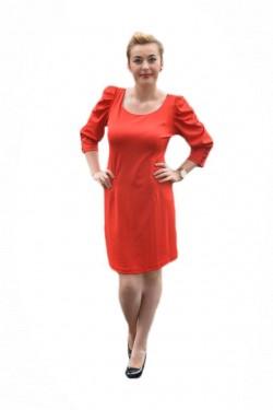 Poze Rochie feminina, rosie, material usor elastic