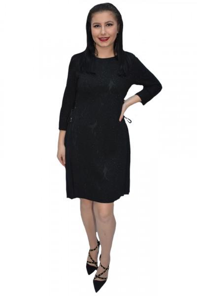 Poze Rochie office Caterina ,model plisat la fusta,negru