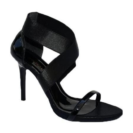 Poze Sandale rafinate cu toc subtire,nuanat de negru