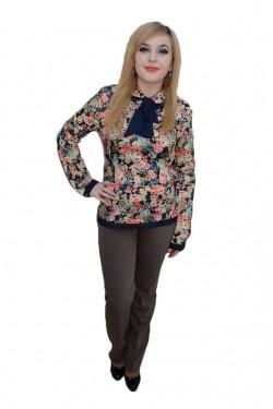 Poze Pantalon elegant cu cusaturi, model clasic, de culoare maro