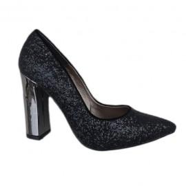 Poze Pantof de ocazie cu toc inalt si design modern, nuanta de negru