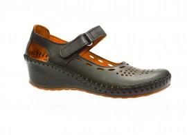 Poze Pantof negru usor si confortabil cu talpa plina, inaltime medie