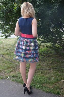 Rochie de ocazie, culoare bleumarin