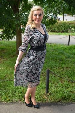 Rochie de primavara-vara, pentru dame cu masuri mari, gri-roz