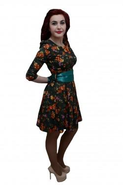 Poze Rochie tinereasca, nuanta de multicolor, betelie lata turcoaz