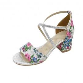 Poze Sanda tinereasca cu design rafinat, floral, in nuante multicolore