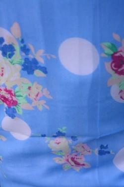 Esarfa deosebita cu forma clasica, dreptunghiulara, albastra