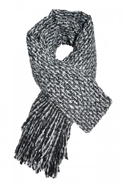 Esarfa tip sal ,forma dreptunghiulara,nuanta negru-gri