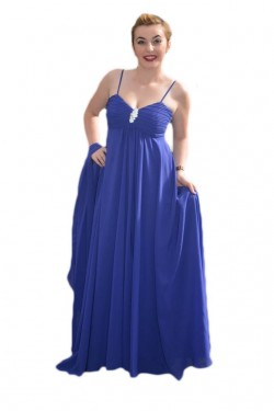 Poze Rochie de seara inedita, model lung, elegant, de un albastru regal
