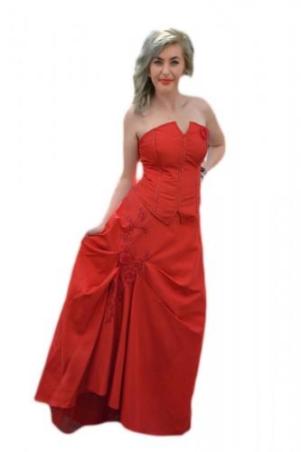 Rochie eleganta , de culoare bleumarin din tafta si tul