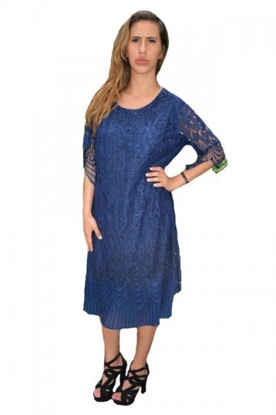 Poze Rochie eleganta Eleanor din dantela,nuanta de bleumarin