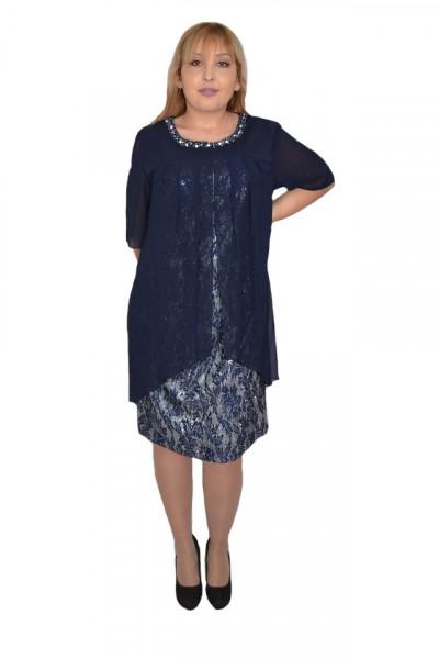 Poze Rochie eleganta Kayla cu aplicatii de margele,nuanta de blemarin