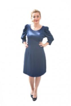 Poze Rochie shic, de culoare bleumarin, midi