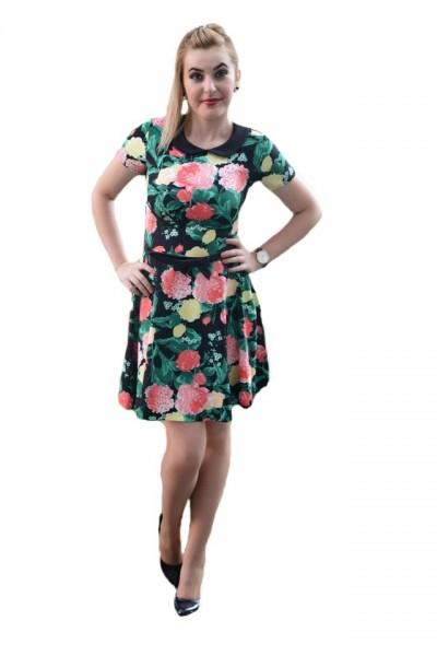 Poze Rochie tinerasca, cu imprimeu floral minunat