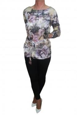 Poze Bluze cu maneca lunga, cu imprimeu floral multicolor deosebit