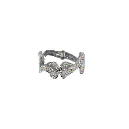 Bratara argintie cu aspect de sarpe mitologic