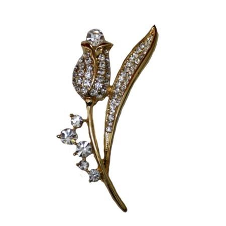Brosa fashion, nuanta de turcoaz sau auriu, design interesant